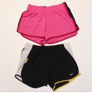 Set of two Nike athletic shorts LIVESTRONG